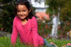 Free Happy Little Girl Stock Image - 17910651