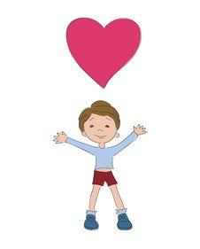 Free Boy With Heart Stock Photography - 17911272