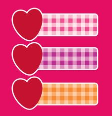 Free Banners With Hearts Stock Image - 17911281