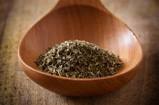 Free Oregano On Wooden Spoon Royalty Free Stock Image - 17911546