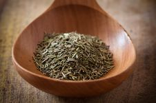 Free Rosemary On Wooden Spoon Royalty Free Stock Photos - 17911548