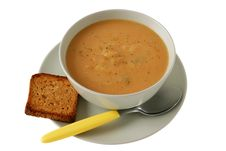 Free Vegetable Soup With Toast Royalty Free Stock Photography - 17912257