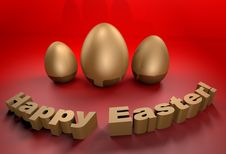 Free Happy Easter Holidays Greetings Card In 3D Stock Photo - 17912360
