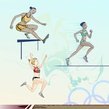 Free Olympic  Toons -  Pack 3 Royalty Free Stock Photo - 17912385
