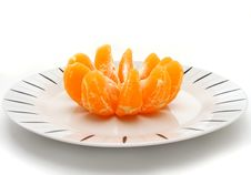 Free Orange In Plate Stock Photography - 17912582