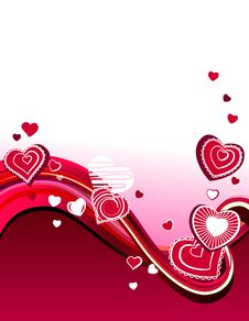 Free Red Hearts On Abstract Background Royalty Free Stock Photos - 17912808