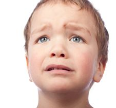 Portrait Of Small Sad Boy Royalty Free Stock Images