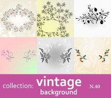 Free Collection Vintage Background Royalty Free Stock Photo - 17912835