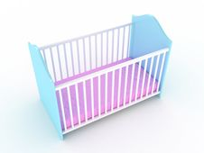 Free Children S Bed Royalty Free Stock Photo - 17912935