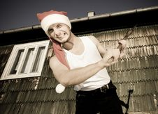 Free Furious Santa With An Axe Stock Photos - 17913433