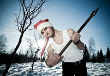 Free Furious Santa With An Axe Stock Images - 17913434
