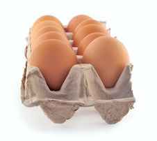 Free Ten Eggs In The Cassette Stock Photo - 17914430