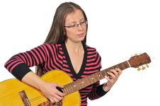 Free Girl With Guitar Stock Photos - 17914533