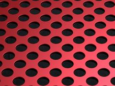 Metal Plate Hole Royalty Free Stock Image