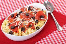 Free Pepperoni Pasta Stock Photo - 17914710