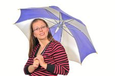 Free Girl With Umbrella Royalty Free Stock Photography - 17914817