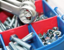 Free Spanners, Bolts And Nuts Stock Photos - 17914883