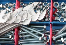 Free Spanners, Bolts And Nuts Stock Photo - 17914900