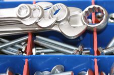 Free Spanners, Bolts And Nuts Stock Photo - 17914930