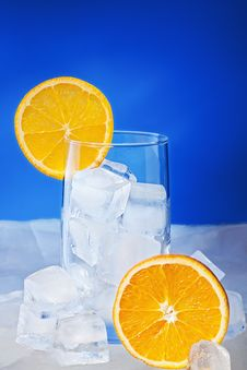 Free Empty Glass With Orange Slices Stock Photo - 17914950
