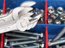 Free Spanners, Bolts And Nuts Stock Photo - 17914960