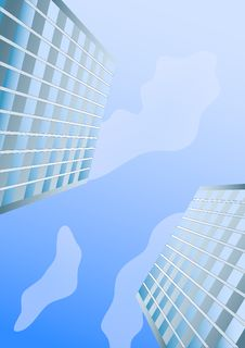 Free City And The Blue Sky Royalty Free Stock Photo - 17915095