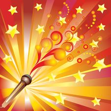 Abstract Background With A Microphone. Stock Photos