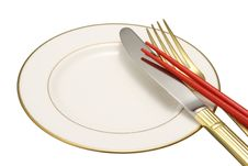 Free Flatware On White Background. Royalty Free Stock Image - 17915166