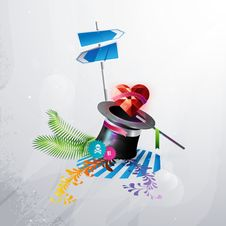 Free Icon Red Heart Comes Out Of A Hat Magician. Royalty Free Stock Image - 17915246