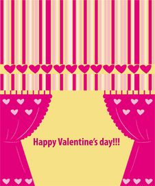 Free Valentine Greeting Card Wiht Hearts Royalty Free Stock Images - 17915419