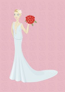 Free Bride With Bouquet Royalty Free Stock Images - 17915439