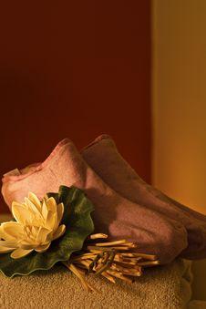 Massage Set In Spa Center Stock Photo