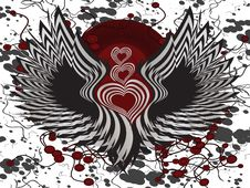 Free Winged Hearts Stock Photos - 17915933