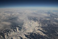 Snow Covered Rockies Royalty Free Stock Photography