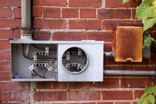 Broken Electric Meter Royalty Free Stock Photos