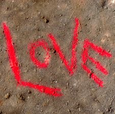 Love On Concrete Royalty Free Stock Photo