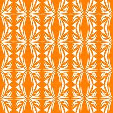 Free Seamless Floral Pattern Orange Background Stock Photo - 17916740