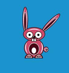 Free Pink Cartoon Rabbit Royalty Free Stock Image - 17916926
