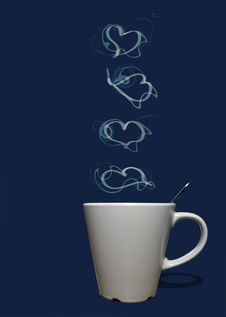 Free Coffee Small Hearts Stock Images - 17916984