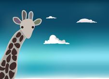 Free Giraffe Sky Stock Photography - 17917032