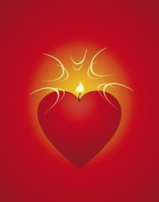 Free Red Heart-candle Stock Photos - 17917443
