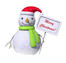 Free Snowman Holding A Board With A Message Stock Image - 17917791