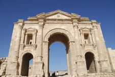 Free Hadrian S Arch In Jerash Stock Photos - 17917873