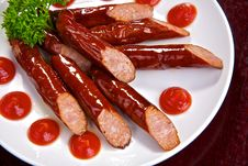 Free Appetizing Bavarian Sausages Stock Images - 17918244