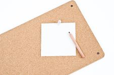 Free Notice Board With Pencil Royalty Free Stock Photo - 17919295
