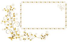Golden Frame. Royalty Free Stock Image