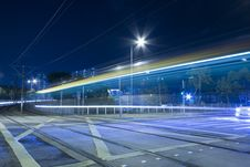 Light Rail In Moving Motion In Hong Kong Royalty Free Stock Photos