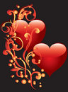 Free Two Hearts With An Ornament Stock Images - 17922994