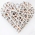 Free White Wood Heart Royalty Free Stock Photography - 17924007