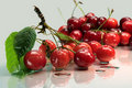 Free Cherries On Glass Plate Stock Photos - 17924013